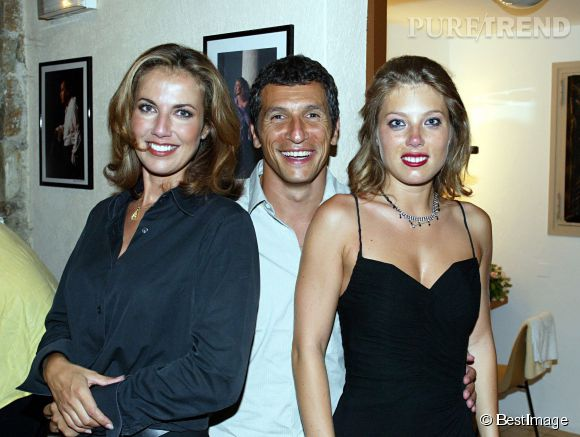 Mélanie Page, aux côtés de Nagui et de Natacha Amal en 2002.