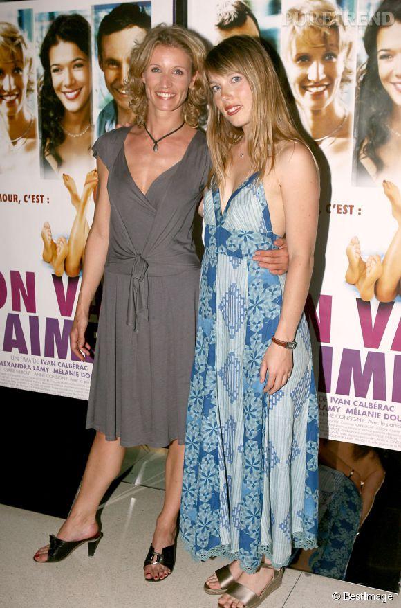 """Mélanie Page et Alexandra Lamy à l'avant-première de """"On va s'aimer"""", en 2006. Les deux actrices s'y donnent la réplique."""