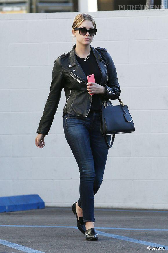 Skinny jean et perfecto, la combinaison gagnante !