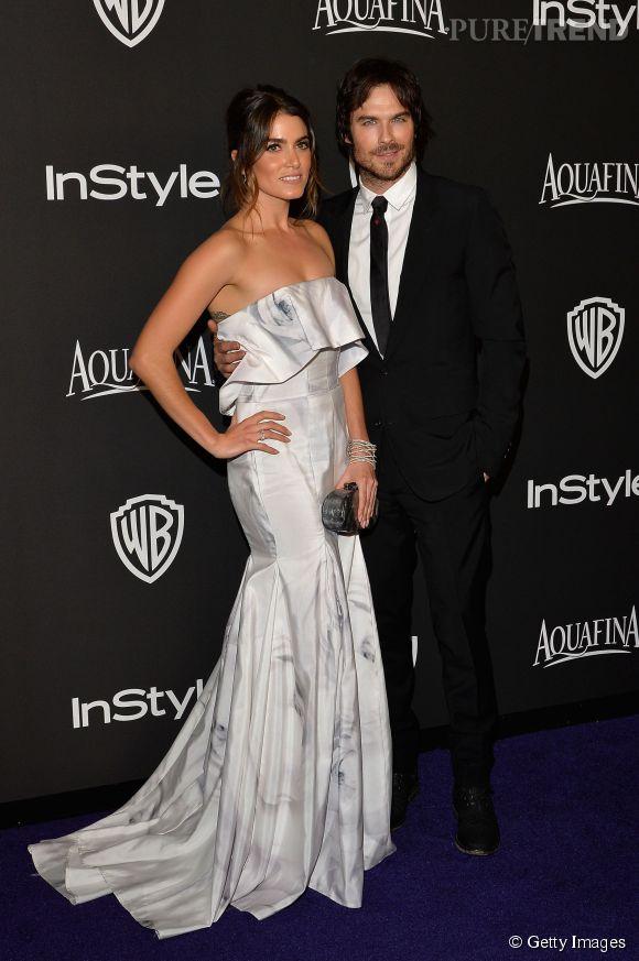 Nikki Reed en Katharine Kidd et Ian Somerhalder lors de l'after party WB InStyle Golden Globe au Hilton de Beverly Hills le 11 janvier 2015.
