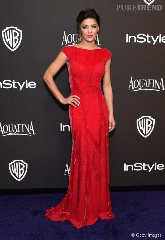 Jessica Szohr lors de l'after party WB InStyle Golden Globe au Hilton de Beverly Hills le 11 janvier 2015.
