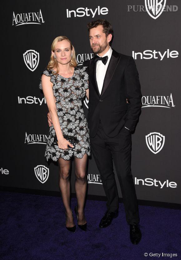 Diane Kruger et Joshua Jackson lors de l'after party WB InStyle Golden Globe au Hilton de Beverly Hills le 11 janvier 2015.