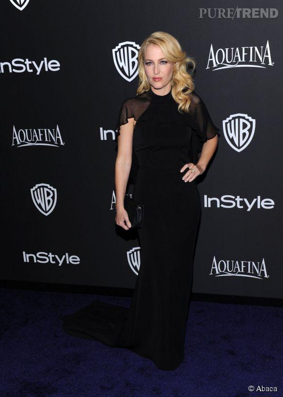 Gillian Anderson lors de l'after party WB InStyle Golden Globe au Hilton de Beverly Hills le 11 janvier 2015.