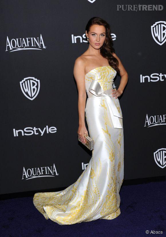 Camilla Luddington lors de l'after party WB InStyle Golden Globe au Hilton de Beverly Hills le 11 janvier 2015.