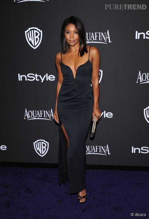 Gabrielle Union lors de l'after party WB InStyle Golden Globe au Hilton de Beverly Hills le 11 janvier 2015.