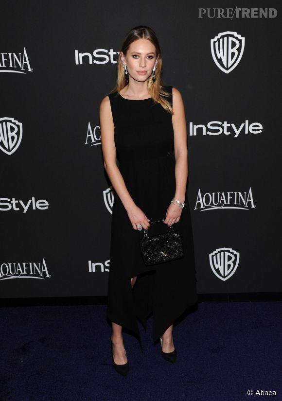 Dylan Penn en Chanel et bijoux Chanel joaillerie lors de l'after party WB InStyle Golden Globe au Hilton de Beverly Hills le 11 janvier 2015.