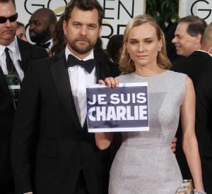 Diane Kruger et Joshua Jackson lors de la 72ème cérémonie des Golden Globes, ce dimanche 11 janvier 2015.