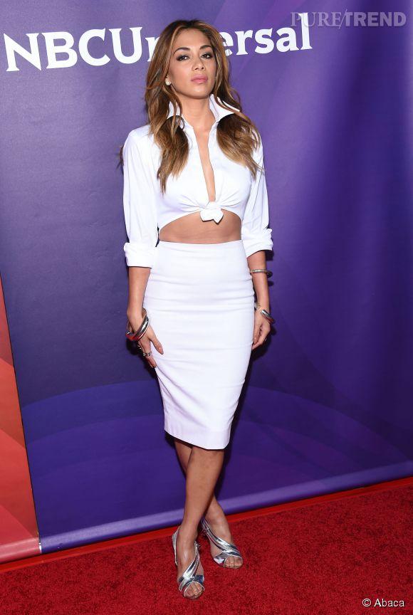 Nicole Scherzinger ultra sexy pour le Summer Press Day de NBCUniversal à Los Angeles le avril .