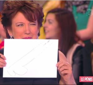 Roselyne Bachelot : coquine, elle dessine son pénis idéal