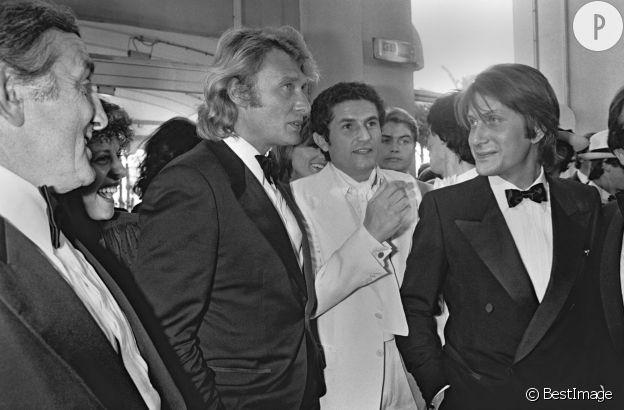 JDutronc, Hallyday, Lelouch, Ventura : une jolie brochette de stars au festival de Cannes en 1979.