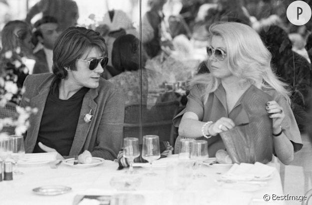 Jacques Dutronc et Catherine Deneuve à Cannes en 1979.