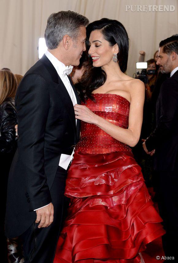 Amal et George Clonney, plus amoureux que jamais au Met Ball 2015 !