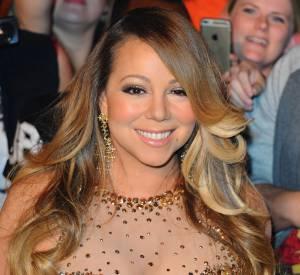 Mariah Carey en plein séance de bondahe sur scène à Végas