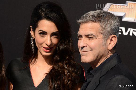 Amal et George Clooney à l'avant-première de Tomorrowland