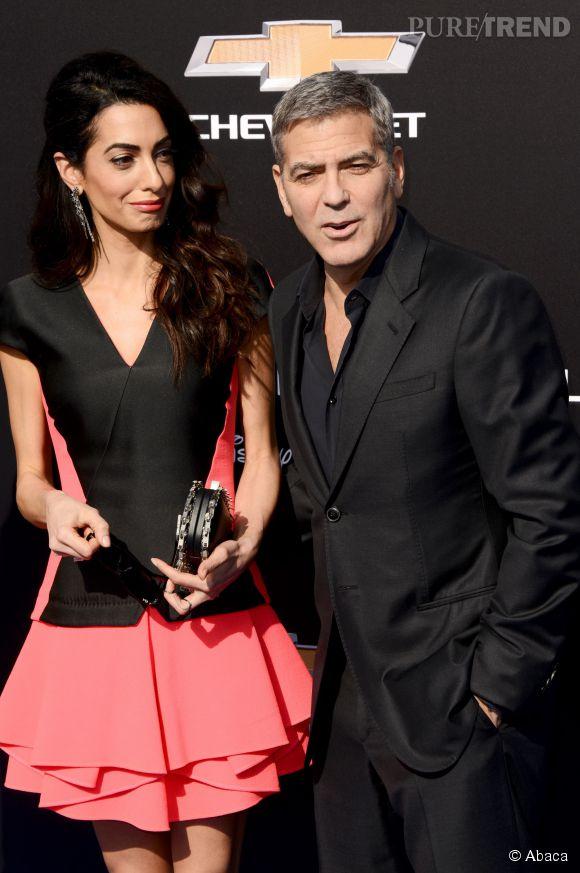 Amal et George Clooney sont complices sur le tapis rouge pour la première de Tomorrowland !