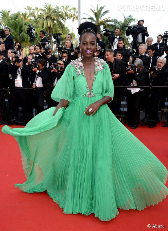 Lupita Nyong'o, sublime en robe Gucci et bijoux Chopard.