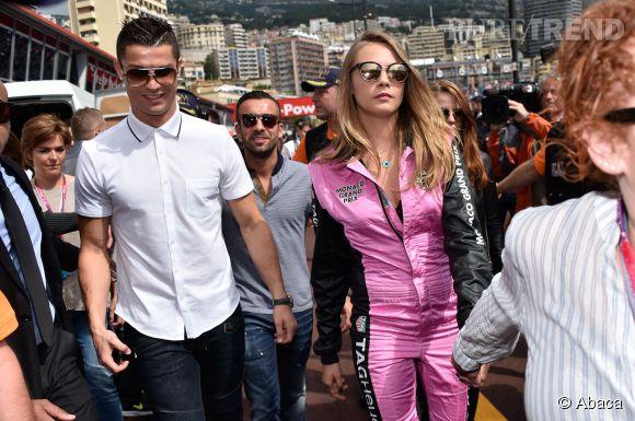 Cristiano Ronaldo et Cara Delevingne au Grand Prix de Monaco le 24 mai 2015.