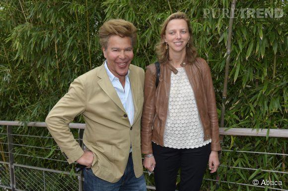 Igor Bogdanoff et sa femme, Amélie Bourbon-Parme, photographiés hier à Roland Garros.