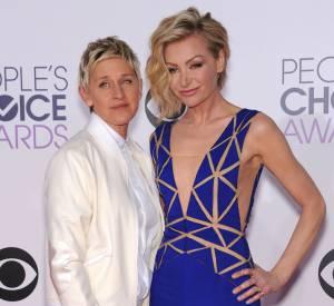 Ellen DeGeneres, ici avec sa femme Portia de Rossi, 50ème femme la plus puissantes du monde.