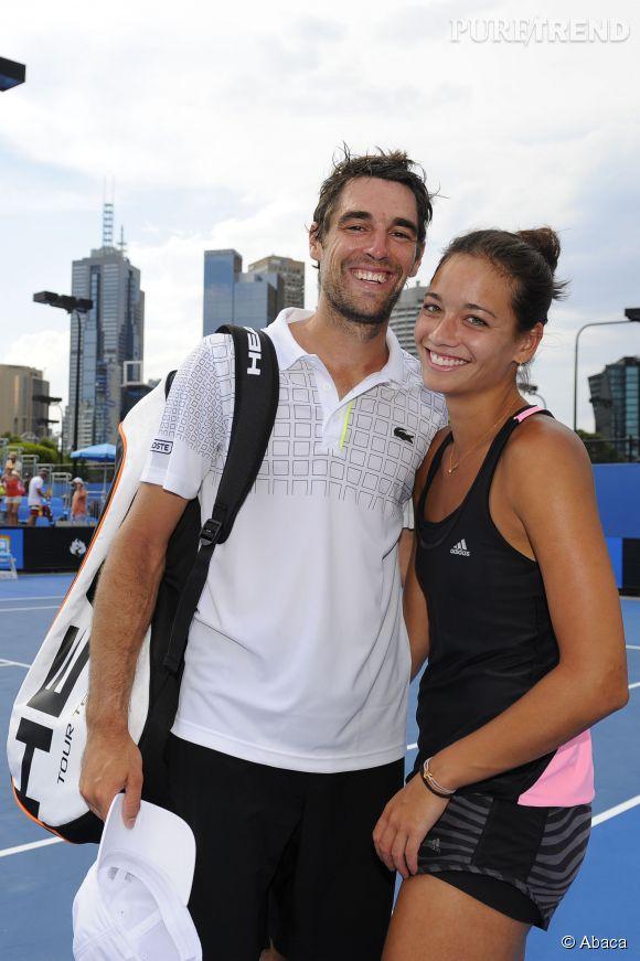 Alizé Lim n'est jamais bien loin de son tennisman favori Jérémy Chardy.