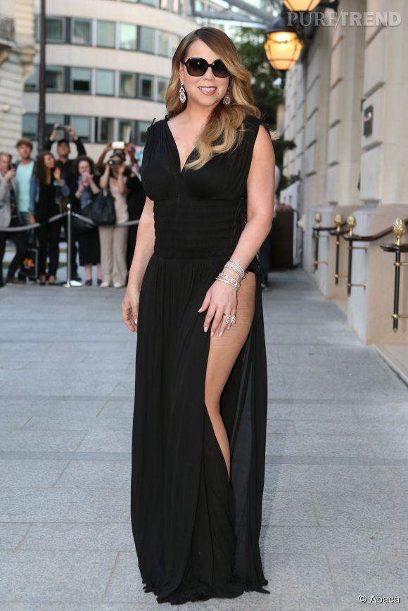 Mariah Carey devant le Peninsula à Paris le 7 juin 2015.