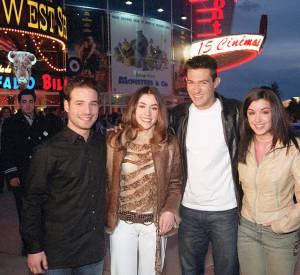 Mario, Olivia Ruiz, Jean-Pascal et Jenifer aux Walt Disney Studios en 2002.