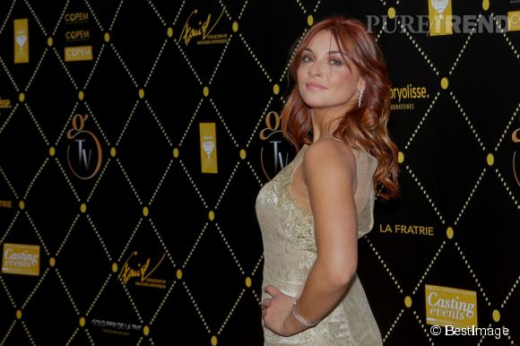 Priscilla Betti aux Gold TV Prix de la TNT le 9 juin 2015 à Paris.