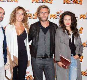 """Alice David et la casting de """"Babysitting 2"""" : Julien Arruti, Elodie Fontan et Philippe Lacheau."""