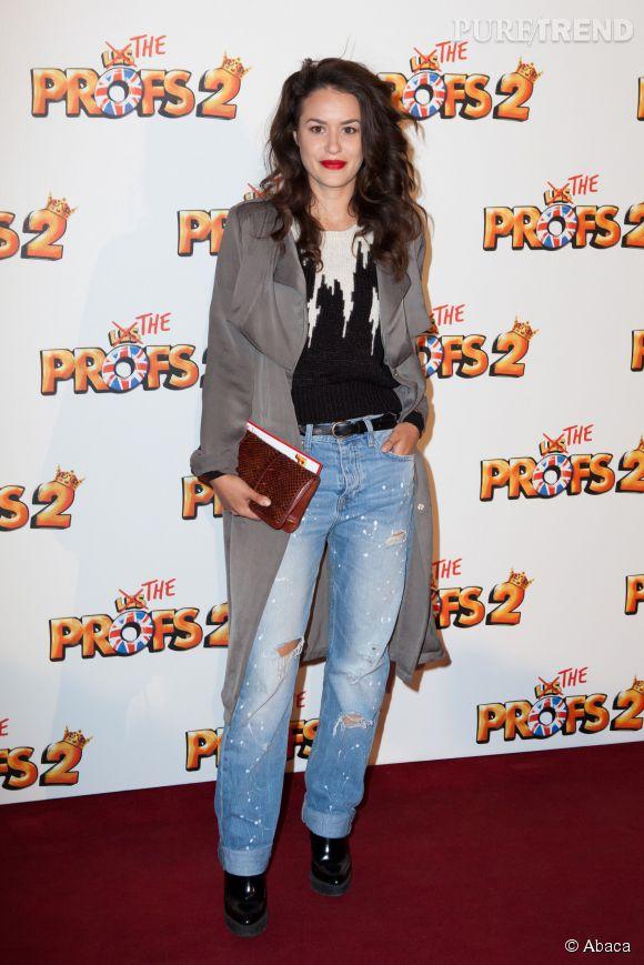 """Alice David, joli garçon manqué pour la première des """"Profs 2"""", hier soir au Grand Rex."""