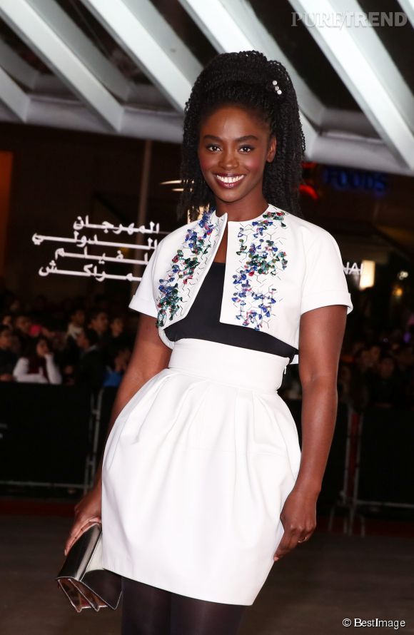 Aïssa Maïga, souriante et radieuse au Festival international du film de Marrakech, en 2013.