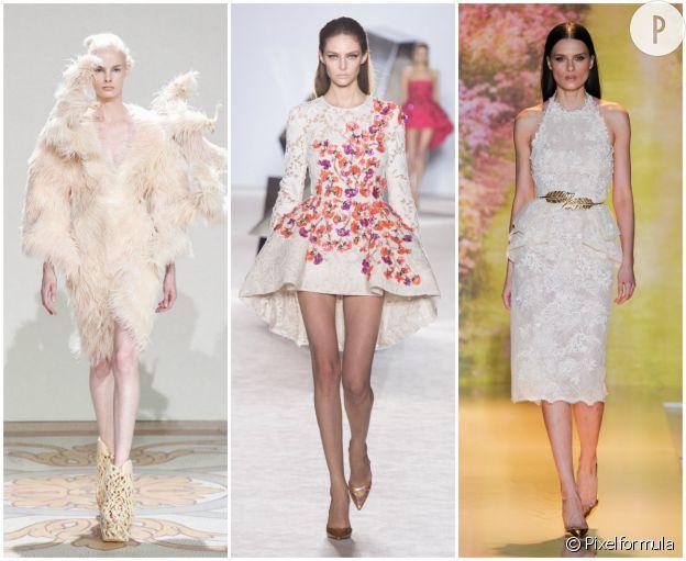 Défilé Iris van Herpen Haute Couture Automne-Hiver 2013/2014. Défile Giambattista Valli Haute Couture Printemps-Été 2014. Défile Zuhair Murad Haute Couture Printemps-Été 2014.