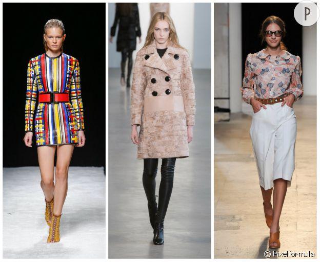 Défile Balmain Printemps-Été 2015, Calvin Klein Automne-Hiver 2015/2016 et Paul & Joe Printemps-Été 2015.