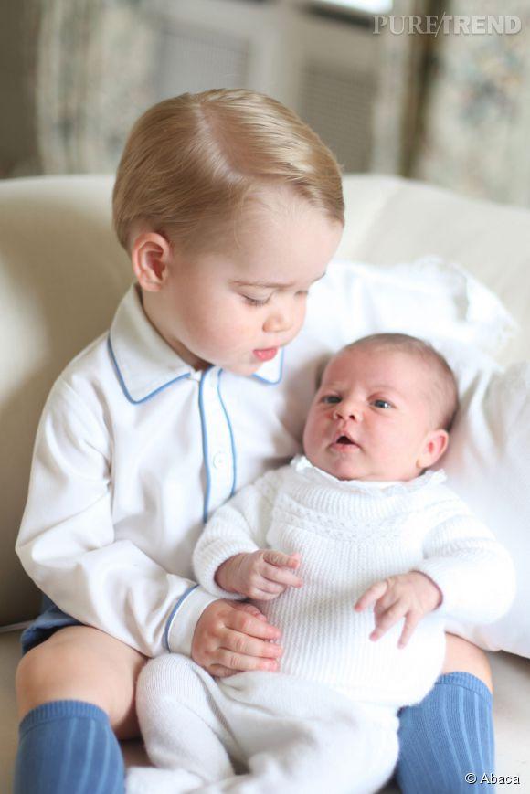 D'après les dires de Charles, la petite Charlotte serait plus calme que son grand frère George.