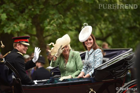 Kate Middleton, Camille Parker Bowles et le prince Harry pour célèbrer l'anniversaire de la reine Elisabeth II