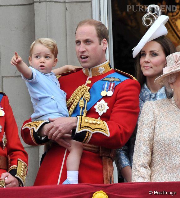 La prince George présent pour célébrer l'anniversaire de son arrière grand-mère !