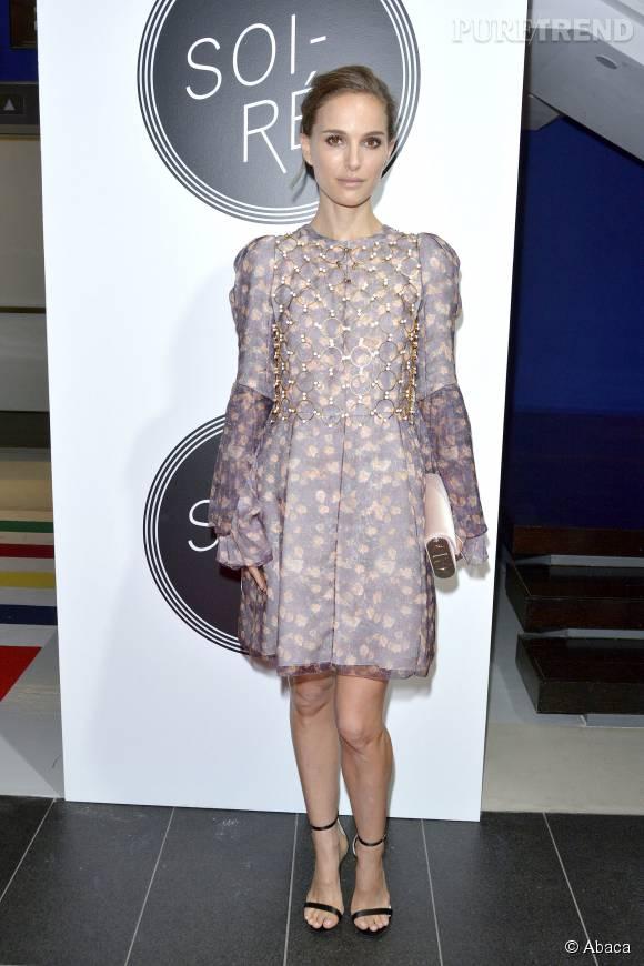 Natalie Portman, sublime dans une robe à fleurs signée Dior.