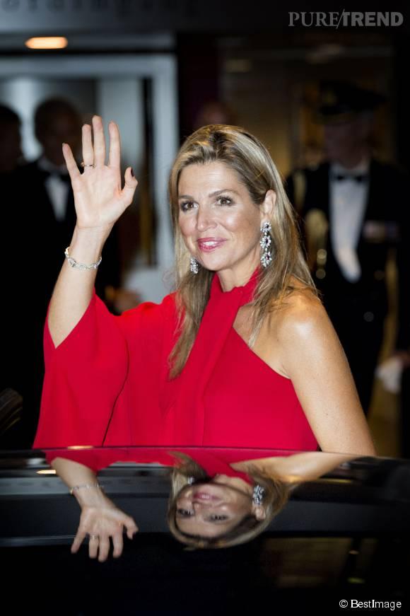 La reine Maxima des Pays-Bas à l'ouverture de la nouvelle saison de l'Opéra Royal à Amsterdam le 10 septembre 2015.