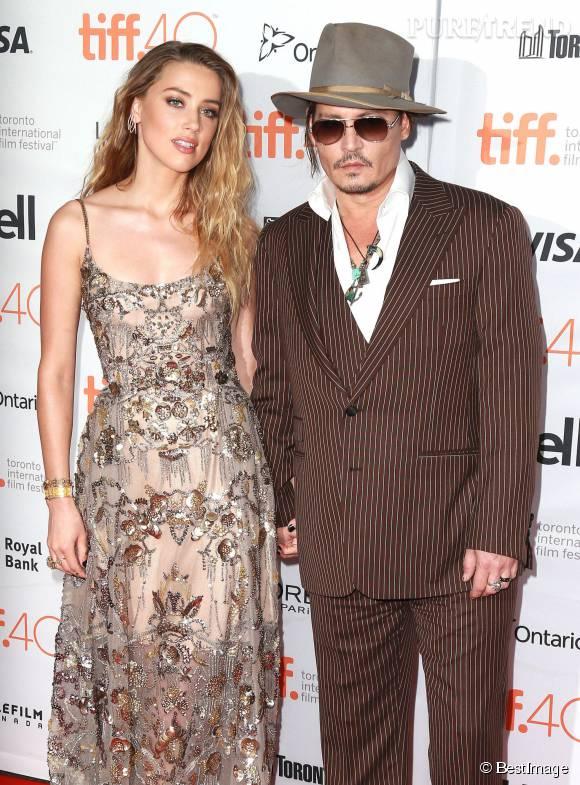 Johnny Depp et Amber Heard, un couple glamour et sexy à Toronto