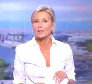 """Claire Chazal exprime son """"une immense tristesse"""" lors de ses adieux à TF1"""