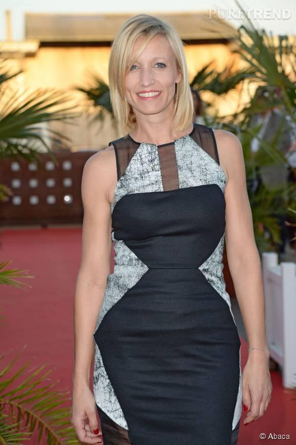 Alexandra Lamy était présente au festival de la fiction télé de La Rochelle pour la cérémonie de clôture.