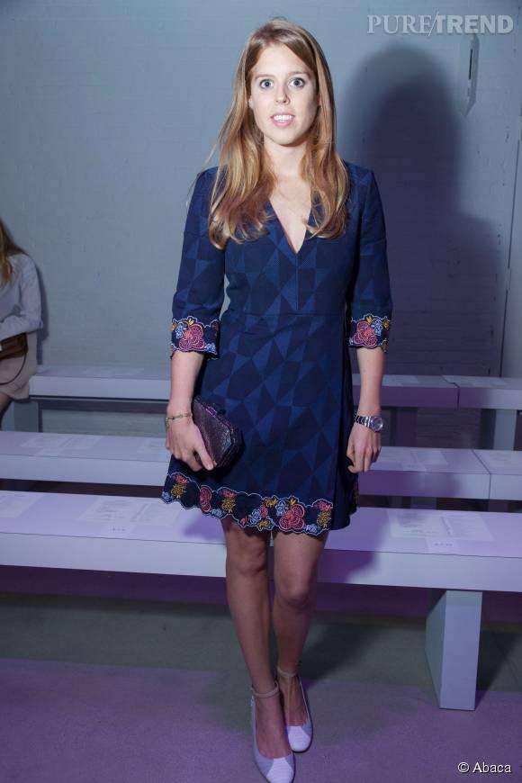 La princesse Beatrice d'York a assisté à un défilé de la Fashion Week de New York, le 12 septembre 2015.