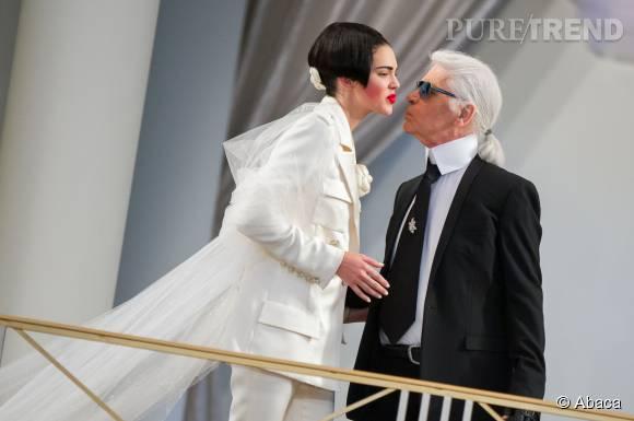 Kendall Jenner, la jeune muse de Karl Lagerfeld.