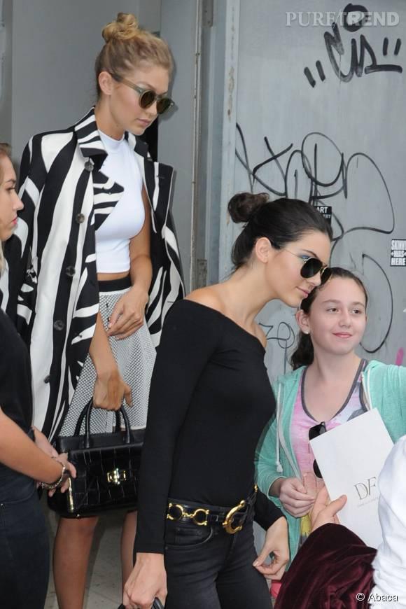 Gigi Hadid et Kendall Jenner à la sortie du défilé de Diane Von Furstenberg.