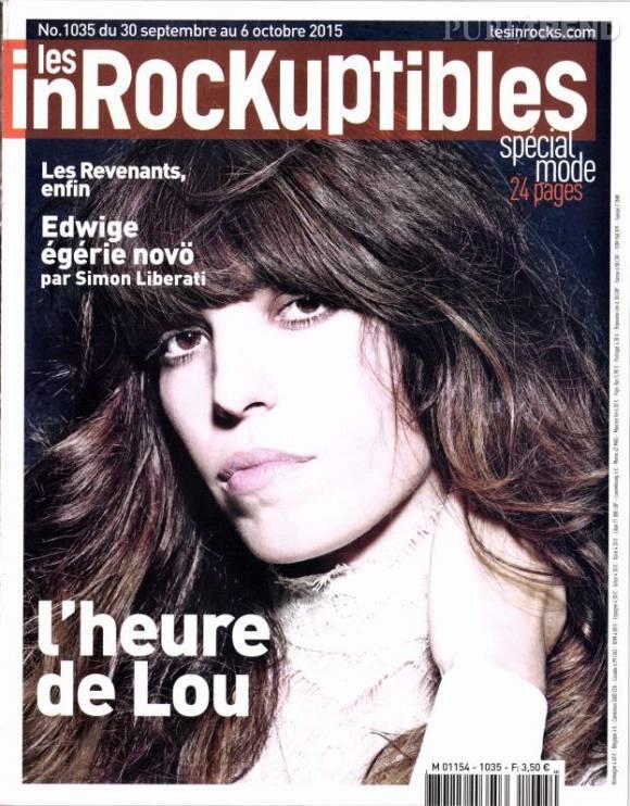 Lou Doillon fait la couv du nouveau numéro des Inrocks, du 30 septembre au 6 octobre.