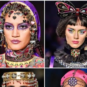 Les coiffes du défilé Printemps-Eté 2016 de Manish Arora.