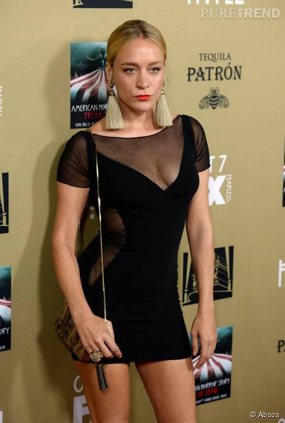 """Chloë Sevigny lors de la première de la nouvelle saison de la série de Ryan Murphy """"American Horror Story : Hotel"""" le 3 octobre 2015."""