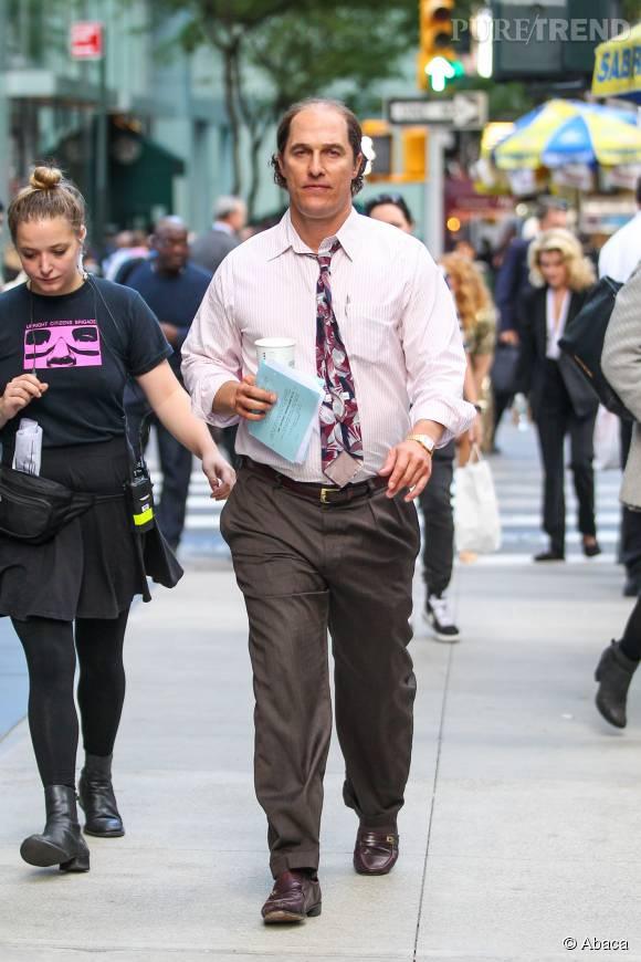 "Matthew McConaughey sur le tournage de son prochain film ""Gold""."