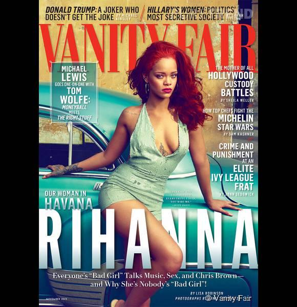Rihanna en couverture de  Vanity Fair pour le mois de novembre 2015.