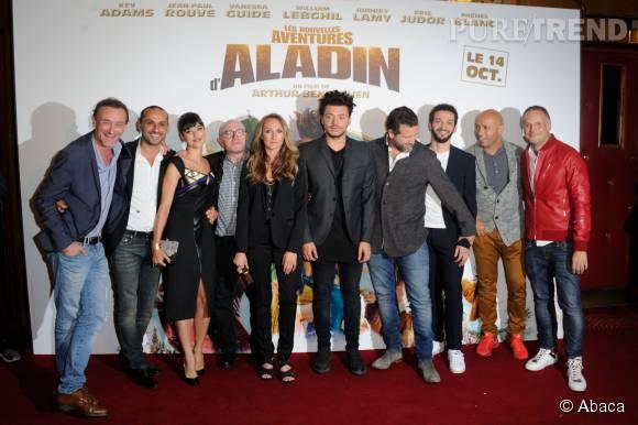 """Audrey Lamy et toute l'équipe du film """" Les nouvelles aventures d'Aladin """"."""