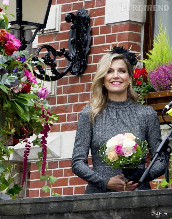 Maxima des Pays-Bas en visite à Limburg le 8 octobre 2015.